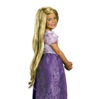 Girls Tangled Rapunzel Wig (As Shown;one Size)