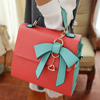 Cute Bowknot Leather Handbag for Summer