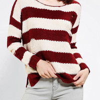 Urban Outfitters - Olive & Oak Shredded Rugby Sweater