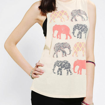Urban Outfitters - Corner Shop Elephant Muscle Tee