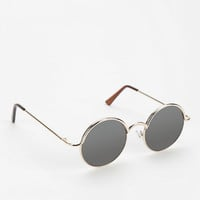 Follow The Lines Round Sunglasses-