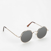Urban Outfitters - Follow The Lines Round Sunglasses
