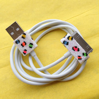iPhone Charger (customized Leopard print USB cord only)