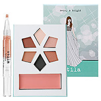 Stila Merry & Bright Collectible Holiday Palette & Lip Glaze: Combination Sets | Sephora