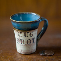 $14.00 Mug Shot Glass 2 oz by juliaedean on Etsy