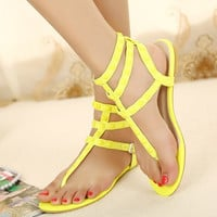 Candy Color Sandals with Cute Studs for Women SD061621