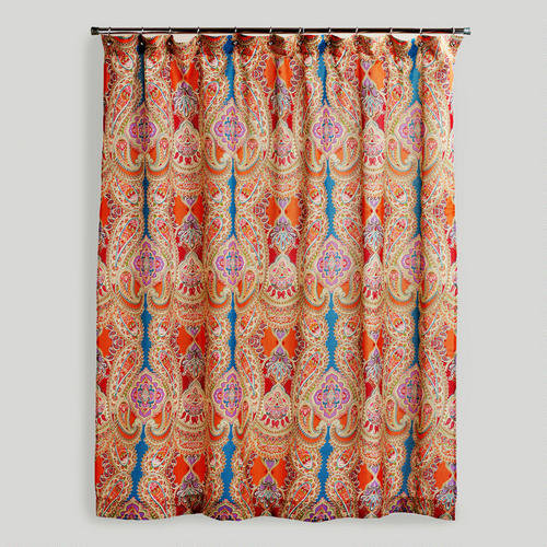 Corner Shower Curtain Rod Ceiling Support Apple Shower Curtains