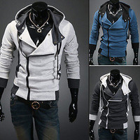Hot Assassins Creed 3 Desmond Miles Hoodie Costume Top Coat Jacket Cosplay Hoody