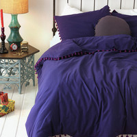 Urban Outfitters - Magical Thinking Pom-Fringe Duvet Cover