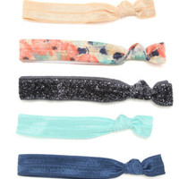 With Love From CA Multi Floral Elastic Hair Pack at PacSun.com