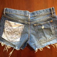 Custom Gap Distressed Bandana Shorts Size 6 by SweetlyDistressed