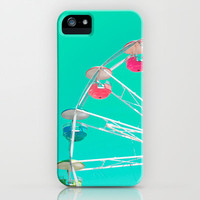 Minty Ferris Wheel of Happiness iPhone & iPod Case | Print Shop