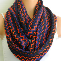 Chevron patterns scarves,Chevron Scarf,infinity Scarf,Loop Scarf, fabric Scarves,Cowl Scarf,Nomad Cowl.eternity Scarf