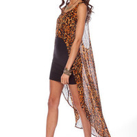 Mink Pink Eye of the Tiger Overlay Top in Multi :: tobi