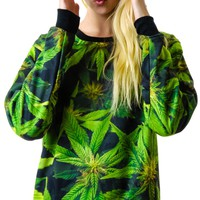 Kill Star Get High Sweatshirt Green