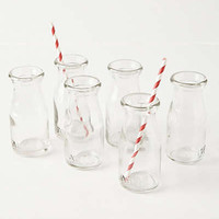 Anthropologie - Glass Milk Bottles