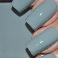 Zera Grey Creme with Green Shimmer Nail Polish 15ml (.5oz)