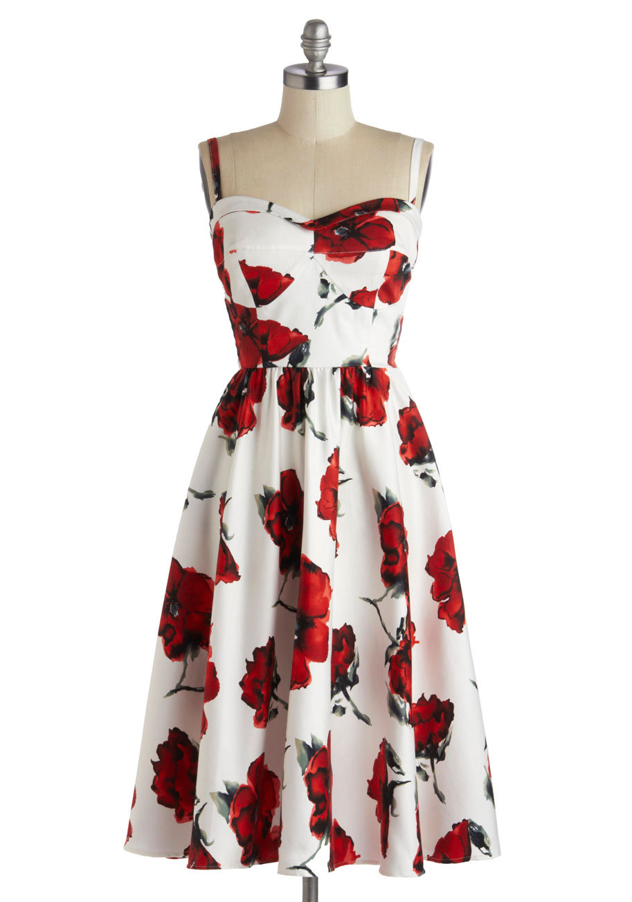 stop staring rose to show dress mod from modcloth epic