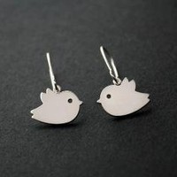 Baby bird earrings by DelicacyJ on Etsy