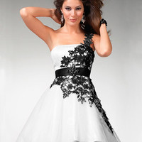 White and black lace short mini dress,hot sex mini prom dress, ball gown dress, cocktail/evening dress
