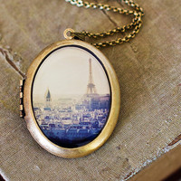 Photo Locket  I Left My Heart In Paris  Paris by HeartworksByLori