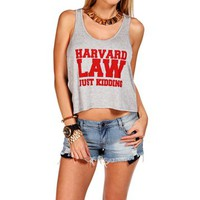 Pre-Order: H. Grey/Burgundy Harvard Law Tank