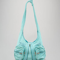 Alexander Wang Donna Washed Leather Hobo, Acqua - Neiman Marcus