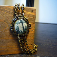 Vintage Lighthouse Antique Bracelet by vintagerust
