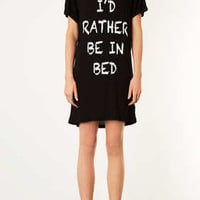 Rather Be In Bed PJ Tee - Nightwear - Lingerie & Nightwear  - Clothing