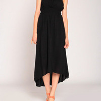 Elastic Tube Maxi in Black