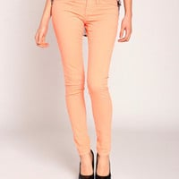Klique B Colored Skinny Jeans in Apricot