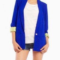 Boyfriend Blazer in Royal Blue