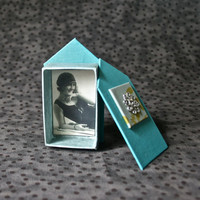 Teal Handmade House Style Gift Box with Silver Sun for Housewarming Hostess Gift