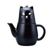 Black Kitty Tea For One Set - Homewares