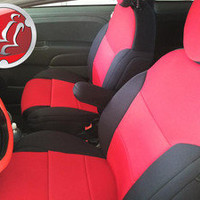 Coverking NEOSUPREME Custom Fit Front Seat Covers for FIAT 500
