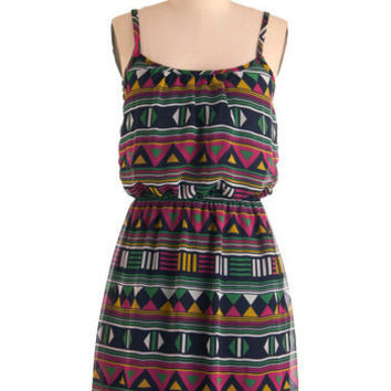 Play That Funky Mosaic Dress | Mod Retro Vintage Dresses | ModCloth.com