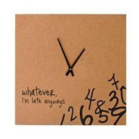 Cork Clock with Black Hands : Target - Polyvore