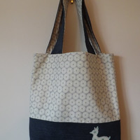 Deer Denim Tote Bag