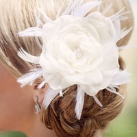 Chiffon flower fascinator - Isabella | Tessa Kim veils and accessories