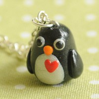 Handmade Miniature Penguin Charm Necklace - Whimsical & Unique Gift Ideas for the Coolest Gift Givers