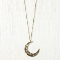 Free People Moon Crescent Necklace