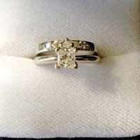 Have You Seen the Ring?: Charles Beaudet Lady's 14k White Gold Diamond Wedding Set