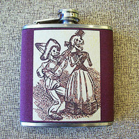 Day of the Dead flask retro rockabilly dia de los muertos Mexico wedding