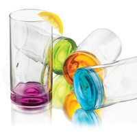 Libbey Impressions Colors Cooler Glass Set, 4-Piece:Amazon:Kitchen & Dining