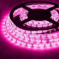 PINK 16.4ft (5m) Waterproof Flexible LED Strip Lights - 12V 2A 300LEDs/pc 3528 - Waterproof IP-65
