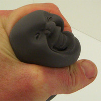 Stress head therapeutic squishy stress ball