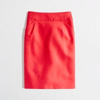 Factory pencil skirt in double-serge cotton