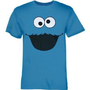 Sesame Street Blue Adult Cookie Monster Men's T-shirt
