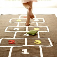 $70.00 Hopscotch Mat by CoolSpacesForKids on Etsy