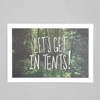 Urban Outfitters - Leah Flores Let's Get In Tents Art Print